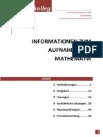 Aufnahmetest Mathe