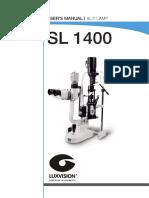 SL-1400 User Manual Slit Lamp