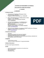 Liste Des Sources de Financement Au Senegal
