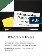"""Roland Barthes- """"Retórica de la Imagen"""" Micaela Garay – Celina Carstens"""