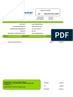 Formato de Orden de Compra