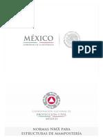 Ponencia Mexico Norma Mexicana Nmx-c-464-Onncce-2010 Ensaye Muretes Pilas Leonardo Flores