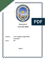 Informe Fisica Ley de Ohm