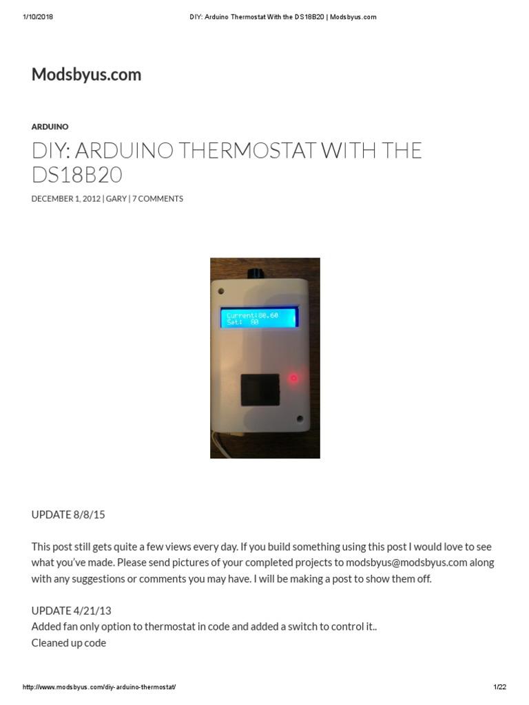 Diy Arduino Thermostat – DIY