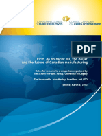 Oil the Dollar and Canadian Manufacturing March 6 2013 FINAL