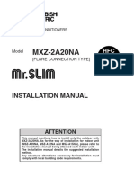 Mitsubishi Installation manual MXZ 2A20NA