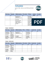 production schedual