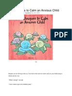 37 de Metode Pentru a Linisti Un Copil Anxios
