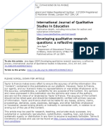 2_Agee (2009) Developing Qualitative Research Questions