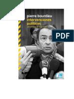 Bourdieu Pierre - Intervenciones Politicas - Un Sociologo En La Barricada.doc