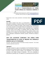 Novos Campi Da UFU a Transformação Da Forma Urbana Nas Cidades Médias Do Triângulo Mineiro e Alto Paranaíba