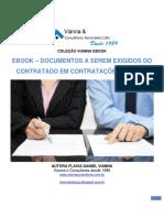 eBook – Documentos a Serem Exigidos Do Contratado Em ContrataÇÕes Diretas