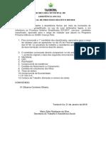 EDITAL DE PROCESSO SELETIVO 005/2018