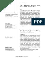 2015 AHDE Bilişsel Değerlendirnme Konuralp Tıp Dergisi