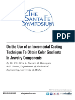 On the Use of an Incremental Casting Technique to Obtain Color Gradients in Jewelry Components