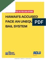ACLU Hawaiʻi Bail System Report