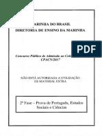 2017 - 2ª Fase (Português, Estudo Sociais e Ciênciass) Prova AMARELA