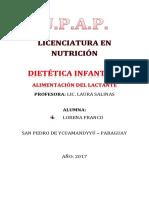 Alimentación Del Lactante, Dietética Infantil II