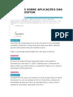 8 Exercícios Sobre Aplicações Das Leis de Newton