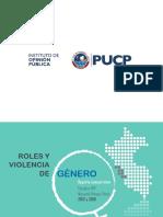 Informe. PUCP Roles y Violencia de Género 2012-16