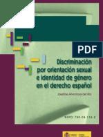 `Discriminación por orientación sexual e identidad de género en el derecho español´