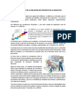 IDENTIFICACION DE LA RELACION DEL DOCENTE EN LA DIDACTICA