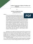 Ekelemu 16. a Review of Aquaculture Production in Nigeria