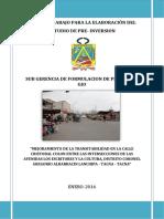 Pt Mejoramiento de Transitabilidad Calle Colon Final
