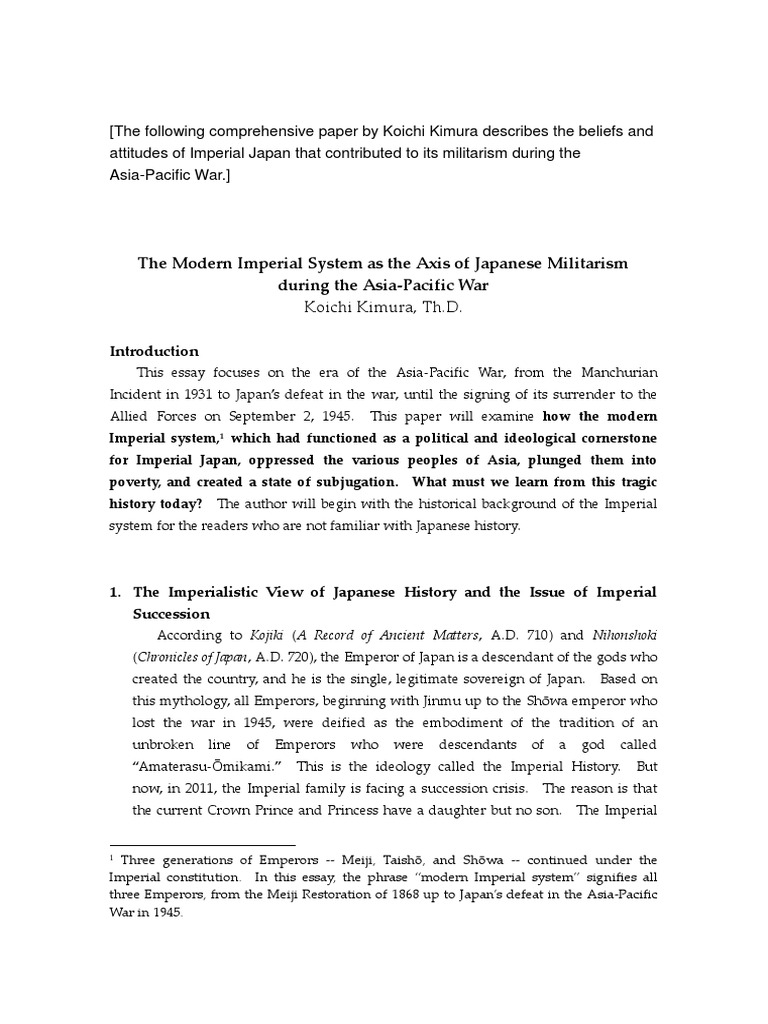 what were the goals of the japanese militarists in the 1930s that led to the attacks on china