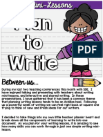 Plan to Write