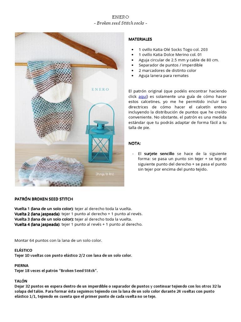 Enero - Broken Seed Stitch Socks
