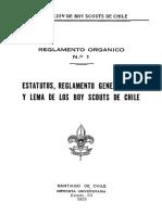 Estatuto Reglamento General Ley y Lema
