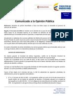 Comunicado No_ 01 - Enero 31 de 2018 - Caso Inmueble Barranquilla