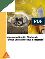 Impermeabilizacion Flexible Tuneles Con Sikaplan