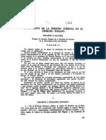 Persona Juridica en El Derecho Romano