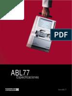 Analizador de Gases - Radiometer - ABL77 - Especificaciones.pdf