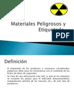 Material Peligro y Etiquetado