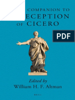 William H. F. Altman (Ed.), Brill's Companion to the Reception of Cicero