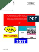 Planificacion Anual Matematica