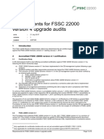 Requirements for Fssc 22000 Version 4.1 Upgrade Audits