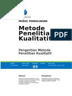 3 Pengertian Metode Penelitian Kualitatif