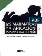La Matematicas y Su Aplicacion Perspectiva Del Niño (Fragmento)