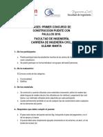 Bases Concurso de Construccion Puente de Palillo