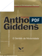 GIDDENS, Anthony; PIERSON, Chirstopher. Conversas Com Anthony Giddens