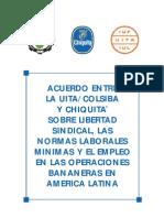 Acuerdo entre la UITA Colsiba y Chiquita brands sobre libertad sindical