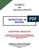 1.1 - Estructura de La Materia - Cuestiones Resueltas de Acceso a La Universidad