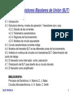 TEMA 4 - Transistores Bipolares de Unión (BJT)