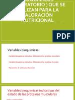 Los Valores Bioquímicos (Laboratorio ) Nutricion