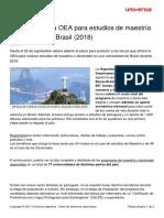 670 Becas Oea Estudios Maestria Doctorado Brasil 2018