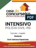 Apostila Pc Rs Intensivo Escrivao Inspetor Redacao Adriana Figueiredo